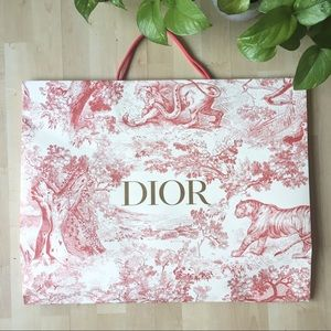 DIOR Extra Large Shopping Gift Bag Only Empty